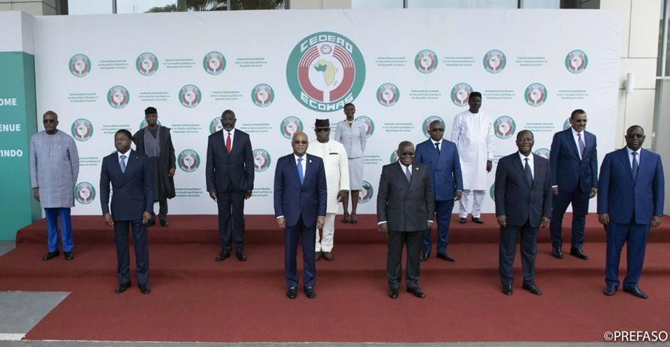 CEDEAO :Sommet extraordinaire sur la Guinée et le Mali